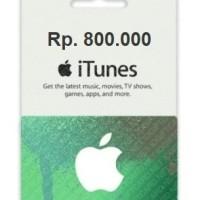 IGC Indo / iTunes Gift Card Region Indonesia 800rb