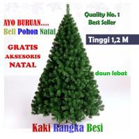 Jual Pohon Natal Tinggi 1,2 Meter Berkualitas Premium PVC Daun Lebat Murah Murah