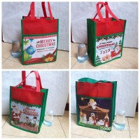 TAS NATAL CHRISTMAS souvenir sovenir goodie bag goody Spunbond murah