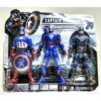 Jual Mainan action figure Captain america legends besar - 3 pcs figure Murah