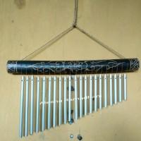 Wind Chime Bambu Alumunium / Alat Musik Perkusi