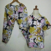 Jual Piyama / baju tidur wanita motif tsum tsum Murah