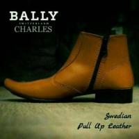 Sepatu Pantofel BOOTS Resleting Bally Bonus kaoskaki!!Sepatu murah