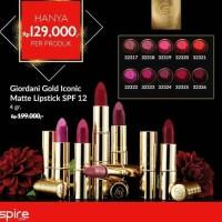 promo desember giordani gold iconic matte lipstik spf12 oriflame