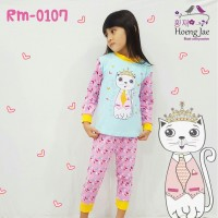 baju tidur anak perempuan import branded piyama queen cat girl fashion