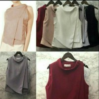 Jual blouse wanita twiscone Fz lapis 2 RO Murah