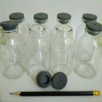 Botol Kaca ASI Tutup Karet 100 ml 1 box (8 pcs) Rekondisi