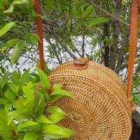 Jual Tas Rotan atabag bulat handmade asli lombok/selempang/bulat/murah Murah