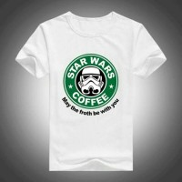 Kaos T-shirt berkualitas BigSize XXXL - XXXXL Star Wars Coffee