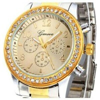 SANWOOD 638656 JAM TANGAN ANALOG SILVER & GOLD