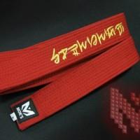 sabuk merah premium moks taekwondo