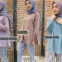 Atasan wanita murah / Grosir baju hijab / Blus wanita : Malira Top