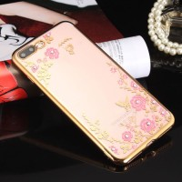 iPhone 8 8  Plus soft case cover casing silicone hp chrome TPU FLOWER