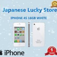 REFURBISHED APPLE IPHONE 4S-16 GB WHITE/BLACK GARANSI DISTRIBUTOR 1THN