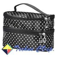 Techno Cosp Tas Organizer Kosmetik Double Deck Make Up Travel Bag