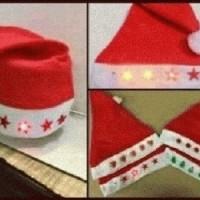 Jual topi natal/santa/merry cristmas nyaman dipakai murah Murah