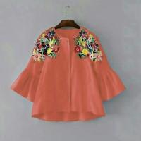 Jual DeltaRN BATWING SUN BORDIER SALEM Baju Atasan Cewek Blouse Cantik Kek Murah