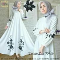 Model Baju Muslim Dewasa Gamis Tsania Lux Ori Rins Branded