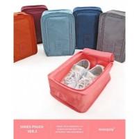 Shoes Pouch Organizer - Monopoly Travel Series Shoe Box - Pink Peach