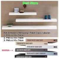 Jual Murah Rak Ambalan & Melayang & Paket 3 pcs & 3 Ukuran 20 40 60cm x Murah