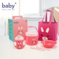 Kado Lucu Unik- Tempat Makan - Baby Value Pack Set Rabbit - Tupperware