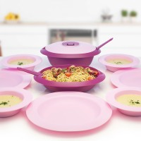 Jual Tempat Makan - Amethyst Serve and Dine Set - Tupperware Murah