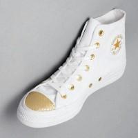 Converse Chuck Taylor All Star OX Hi Top White/Gold/White