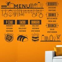 Harga wall stiker dinding kaca custom menu daftar harga 2 kafe resto | antitipu.com