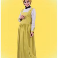 Baju Dress Wanita Gamis Qirani Dewasa 184 Hijau Muda