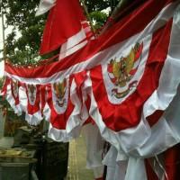 bendera merah putih gambar garuda untuk agustusan,kantor, sekolah