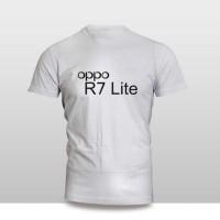 kaos baju pakaian gadget HANDPHONE OPPO R7 LITE LOGO FONT mura