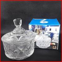 Candy Bowl Toples Kaca Kue Tempat Permen Kristal Glas Stoples BO032