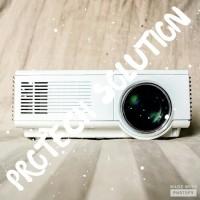 Projector LED TJ600D 1500 Lumens, lampu 50.000 Jam, TV Tuner Build In