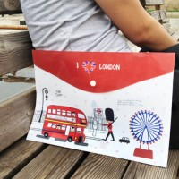 Jual map stationery cross section A4 I Love London sma009 Murah