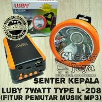 Senter Kepala LUBY 7Watt type L- 208 Fitur Pemutar Musik MP3