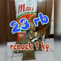 Jual MAXI Cat Food REPACK 1 kg         Murah