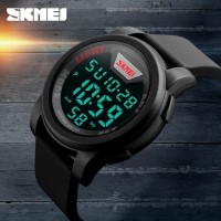 Jam Tangan Pria SKMEI Men LED Display Digital Watch DG1218 50m