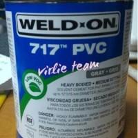 Pvc heavy bodied cement,WeldOn 717,lem weld on. Murah