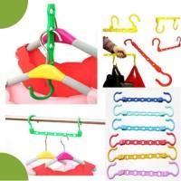 Jual Colorfull Wonder Hanger Magic gantungan baju lemari pakaian Laundry Murah