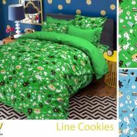 Jual Sprei Katun Line Cookies 160x200 Murah
