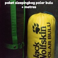 Jual Paket hemat Sleeping bag polar bulu tebal dan matras camping spon Murah