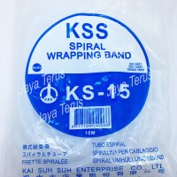 Kabel Spiral KSS KS 15 putih/ Kabel spiral/ Spiral wrapping band/ KSS