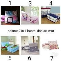 Jual BEST PRICE BALMUT 2 IN 1 BANTAL DAN SELIMUT TERLARIS Murah