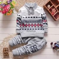 Jual Grey / redblue ethnic boy set ( setelan baju anak laki-laki)  Murah