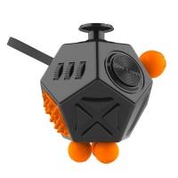 Jual Mainan Pelepas Stress Hexagon Fidget Cube - Black  Murah