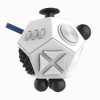 Jual Mainan Pelepas Stress Hexagon Fidget Cube - White  Murah