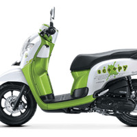 Playful White Green All New Scoopy GRY+ Honda Motor OTR PATI