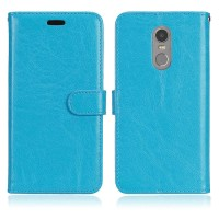 Flipcase Slim Kulit Book Leather Flip Case Cover Casing Lenovo K6 Note