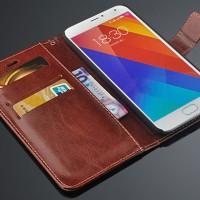 Flipcase Slim Kuat Kulit Book Leather Flip Case Cover Casing Meizu MX5