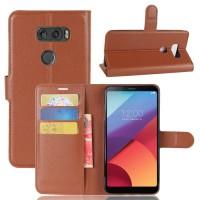 Flipcase Dompet Kulit Book Leather Flip Case Cover Casing LG V30 Plus